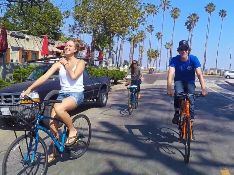 santa barbara bike rental in funk zone