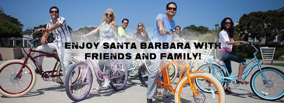 Beach Cruiser and Hybrid Bike Rental In Santa Barbara