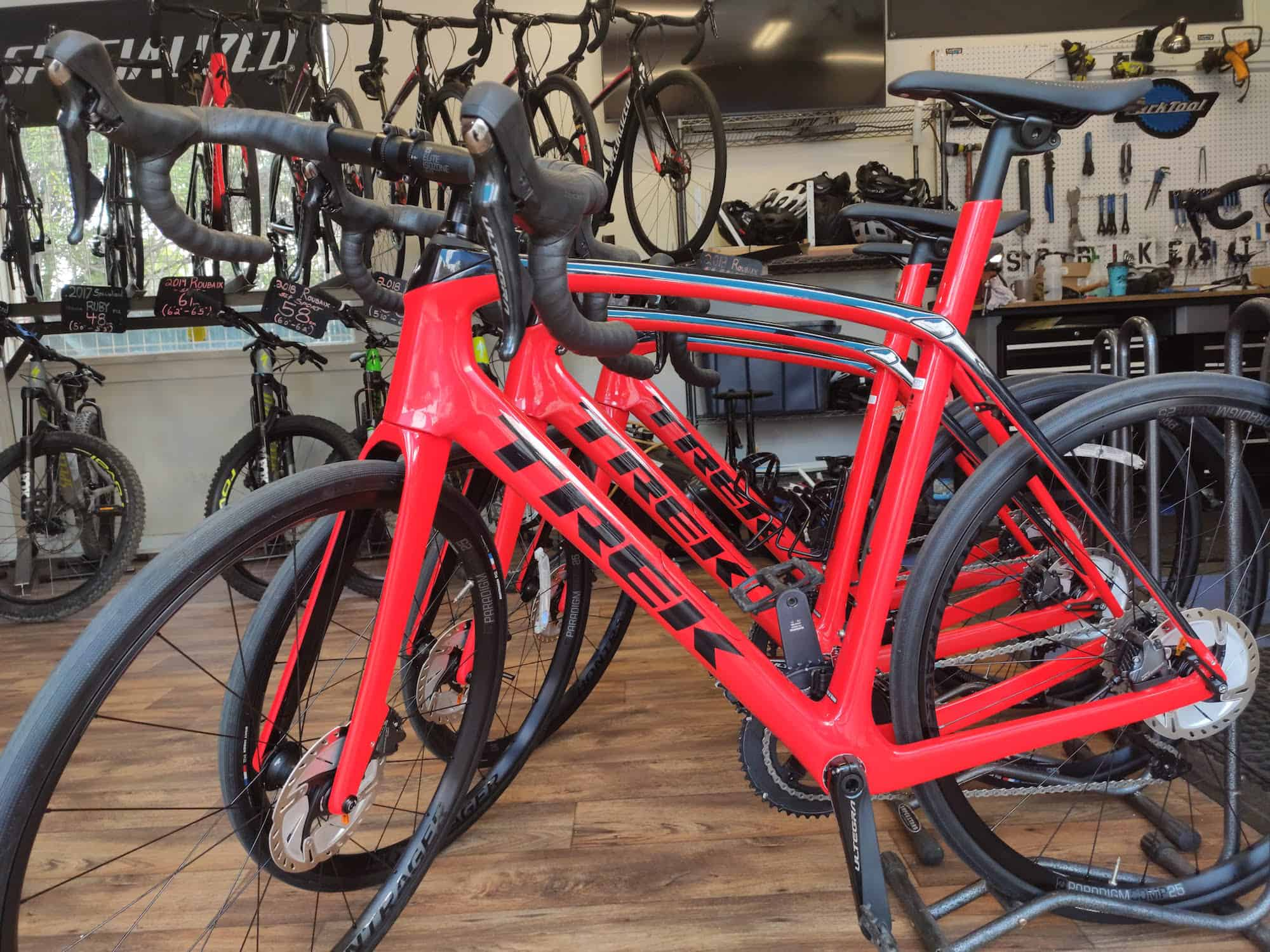 bike rental shop - new road bikes!